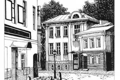 Урок по композиции - Город, графический вариант