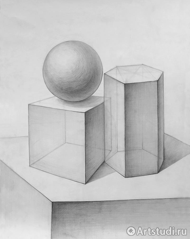 Как рисовать геометрические фигуры поэтапно