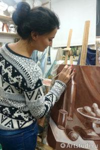 Уроки живописи гризайль в нашей студии