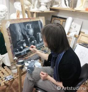 Урок гризайль в курсе живописи