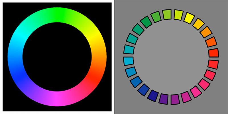 Цветовой круг Оствальда
