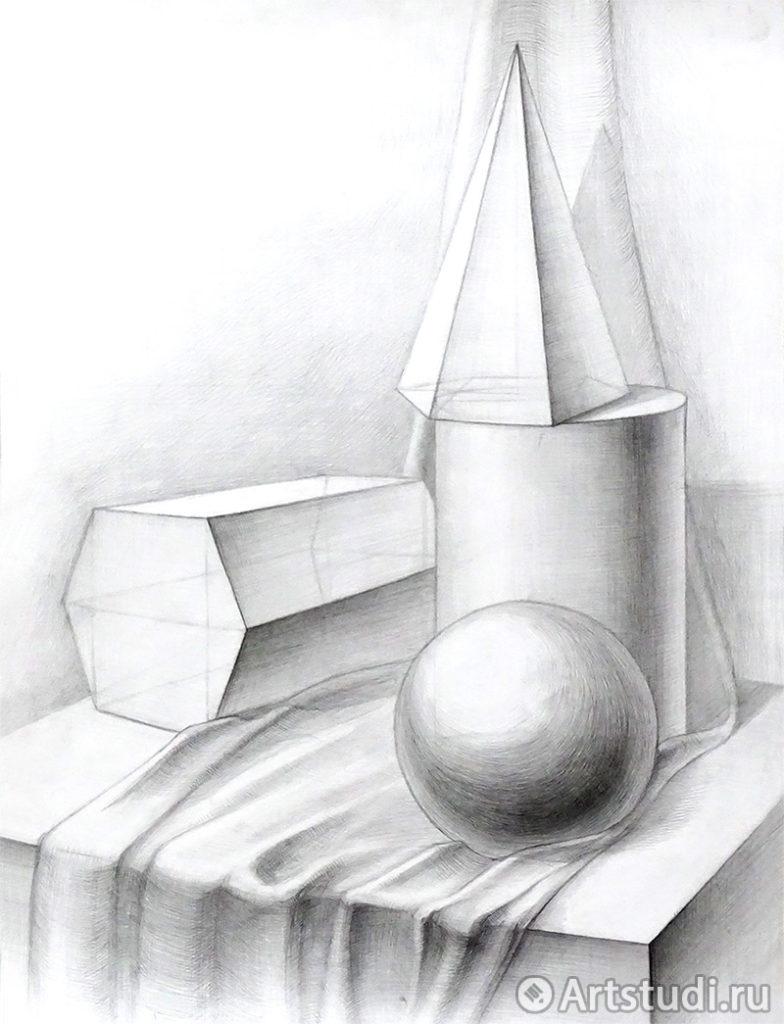 Натюрморт из геометрических предметов
