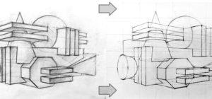 <span>Метод переноса рисунка с эскиза на большой лист</span>