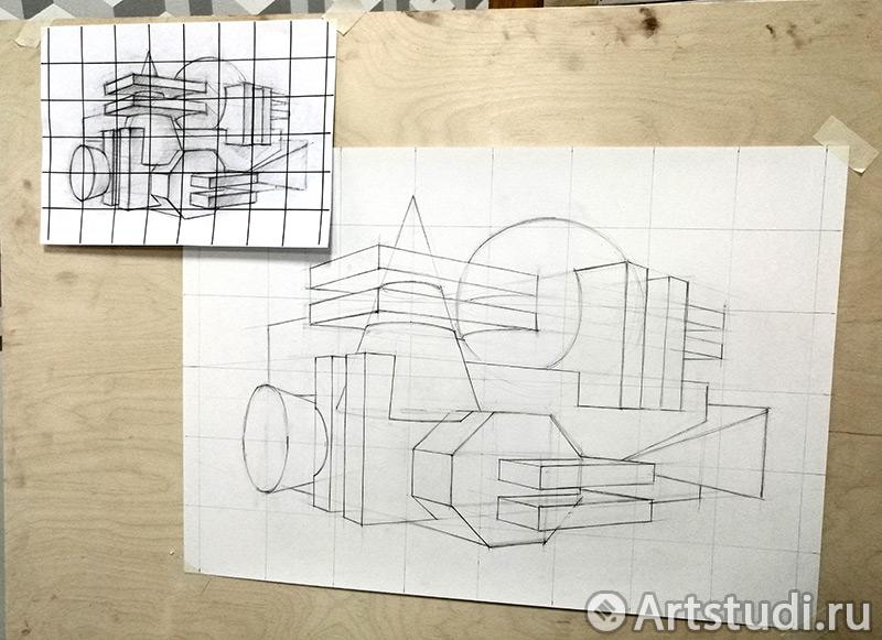 Процесс переноса рисунка